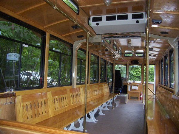Tmx 1302196035123 Weddingtrolleyinterior Marshfield wedding transportation