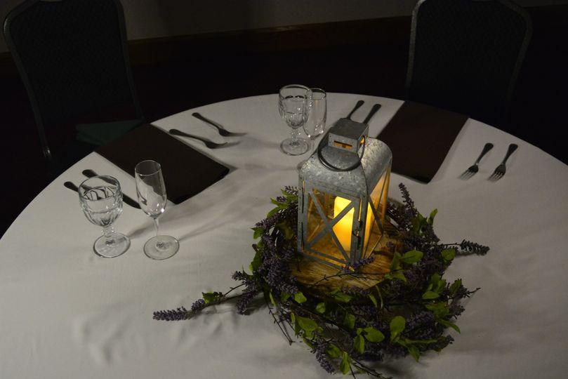 Lavender Lantern Centerpiece