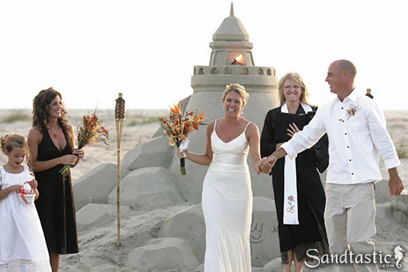 Lighthouse sand sculpture