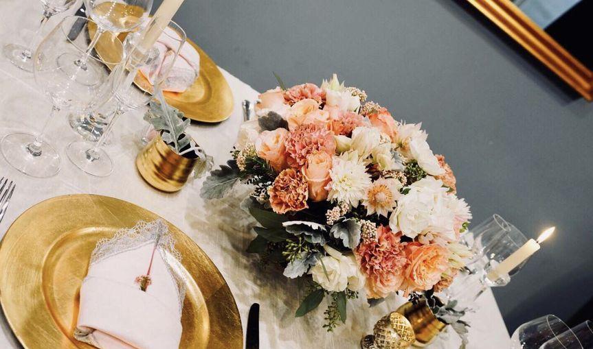 White and orange flowers