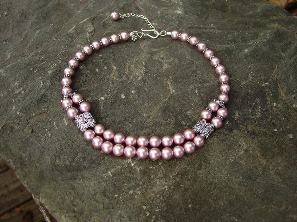 This is one of our favorite designs, and it is available in any of our Swarovski Pearl colors...