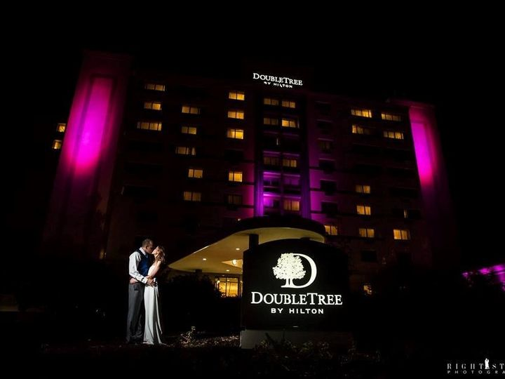 Tmx 1443449808411 Hotel Picture In Front Of Dt Sign Bride And Groom King Of Prussia, PA wedding venue