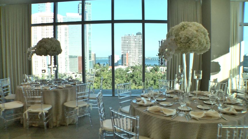 Wedding with Biscayne Bay View