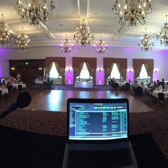 Uplighting and DJing this beautiful venue