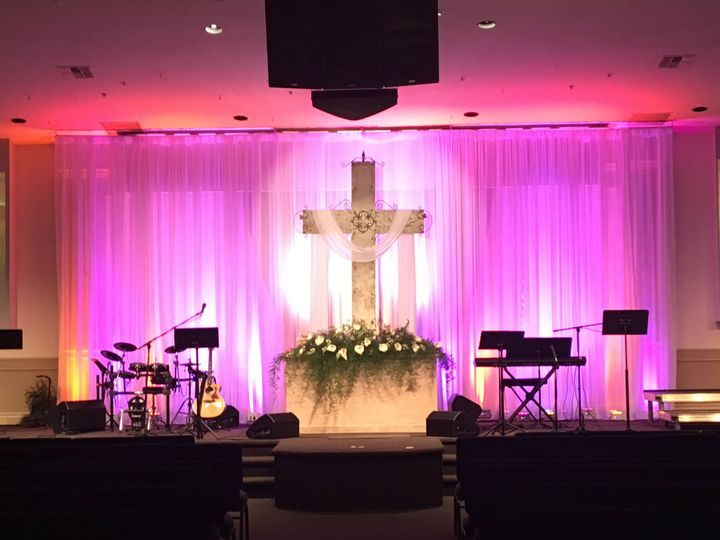 Uplighting for a church