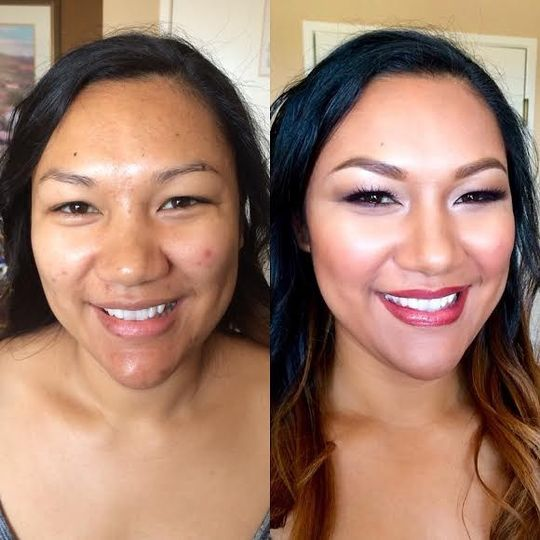 Before and after refreshing look