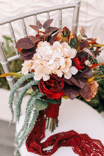 Bohemian ranch theme bouquet