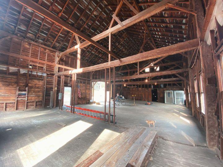 Our 1800s barn interior