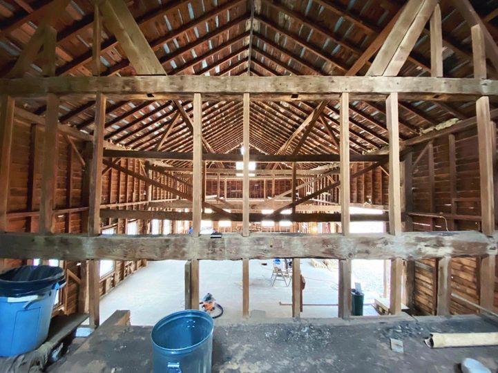 Barn loft view (pre -reno)