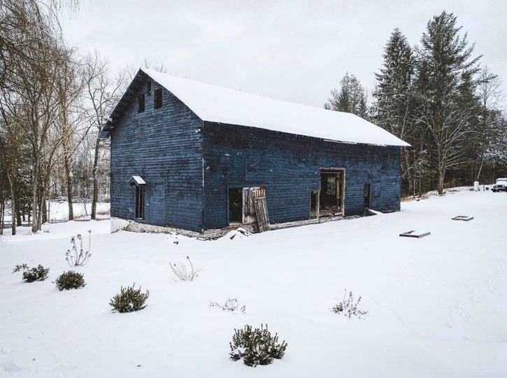 Our 1800s black barn