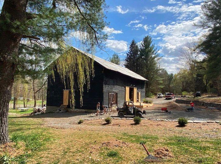 Barn exterior in Spring