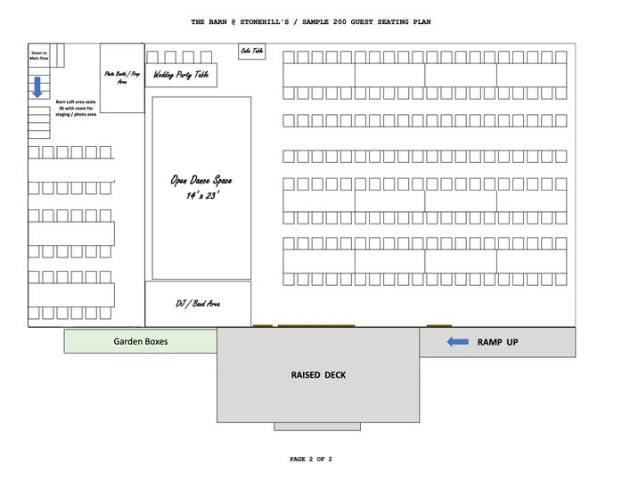 Layout for 200 - Second Floor