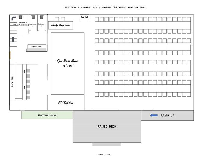 Layout for 200 - First Floor