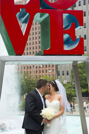 Kiss under the love sign