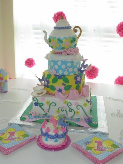Tea pot 1st. Birthday Cake.