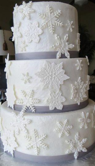 Snowflake Wedding Cake.
