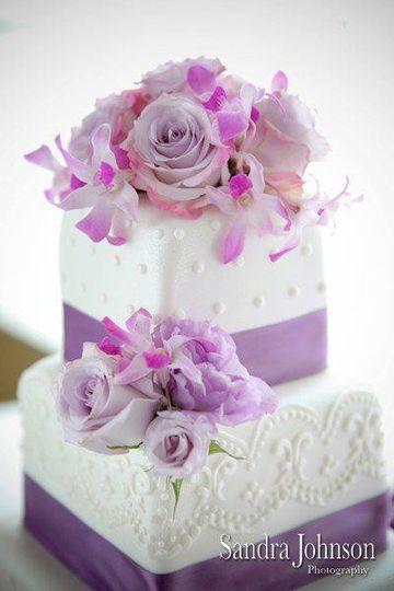 White and lavender cake