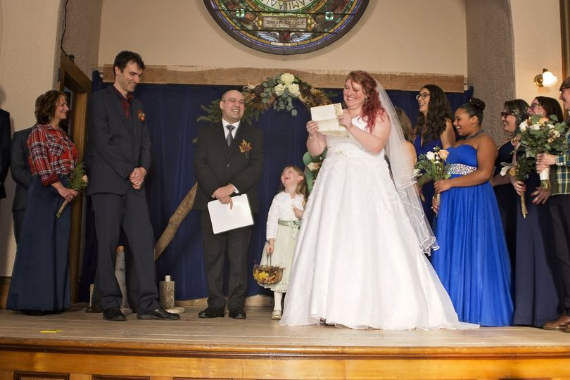 Exchanging the vows