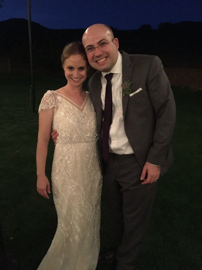 With the bride, Julie