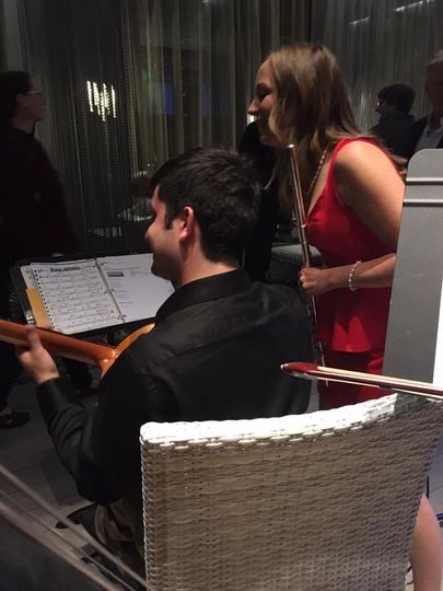 KB&B Duo performing at a classical event