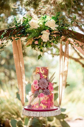 Hanging Succulent Cake