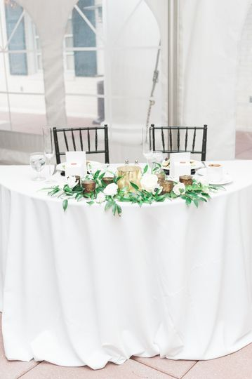 Sweetheart table example