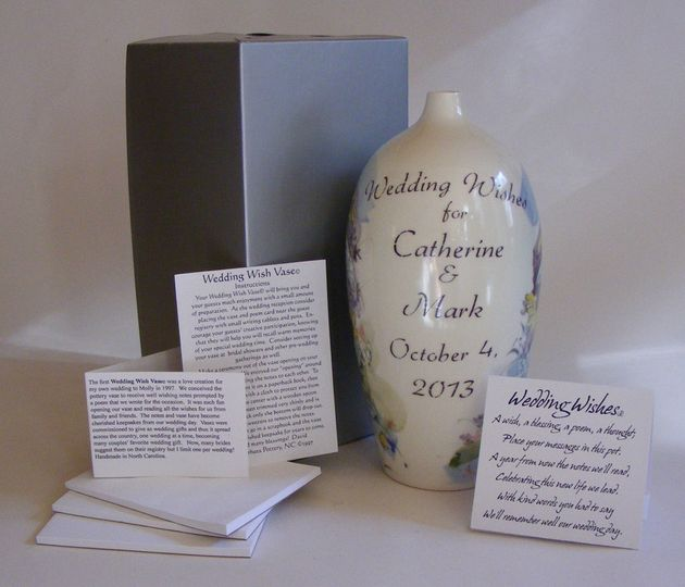 Each Wedding Wish Vase© comes gift boxed including a poem card, instruction card and story about the...