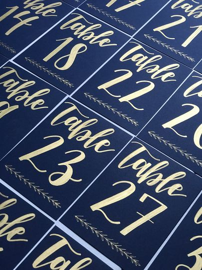 Cardstock table numbers