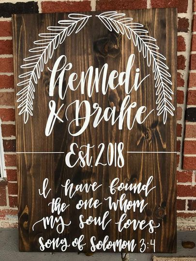 Custom wood accent sign