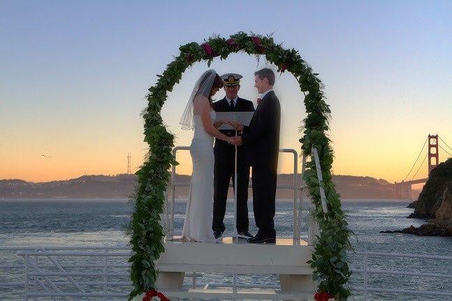 Tmx 1511384943053 Cabby Underway Wedding Sausalito View Of Gate Alameda wedding venue