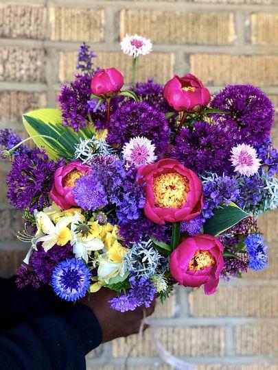 Home grown flowers