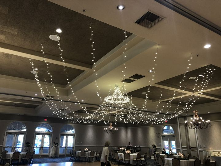 Reception hall hanging lights