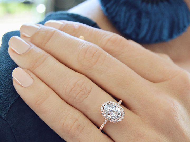 Tmx 1534451129 65237227f4f5b33a 1534451128 B3fd95d83c08f782 1534451128081 4 Rose Gold Oval Hal Arlington wedding jewelry