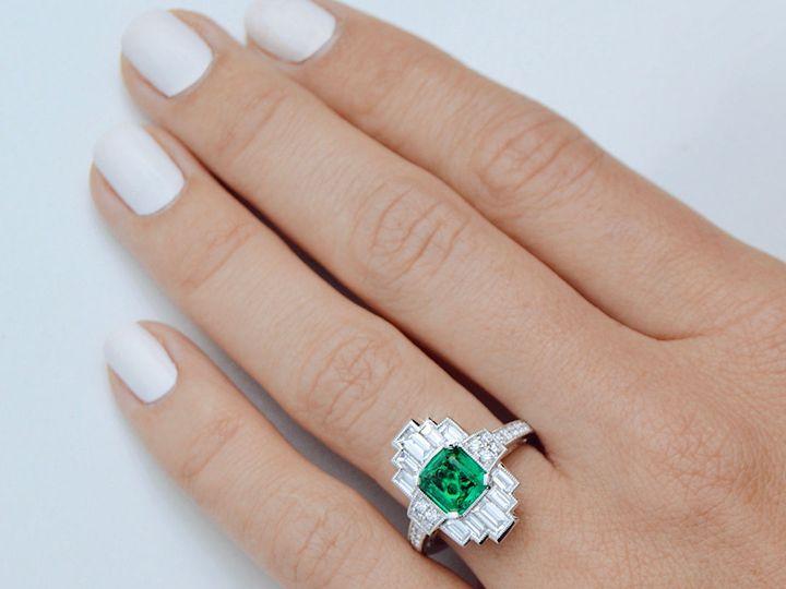 Tmx 1534451274 7b9aeb596130c1d3 1534451273 05f50f8c79b68cd0 1534451273303 13 Artdeco Green Eme Arlington wedding jewelry