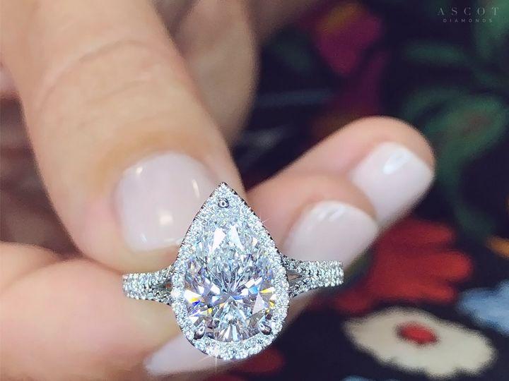 Tmx 2 Carat Pear Shape Diamond Engagement Ring Custom Halo Style Ring By Ascot Diamonds Atlanta 51 24719 159776047668764 Arlington wedding jewelry