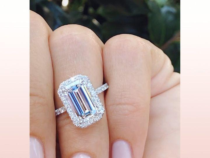 Tmx Custom Emerald Cut Diamond Halo Ring By Ascot Diamonds In Atlanta 51 24719 159776047621146 Arlington wedding jewelry