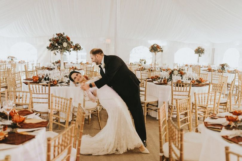 Tent with Bride & Groom