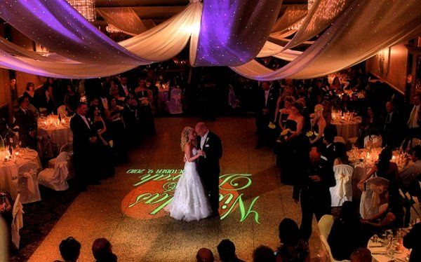 "An example of my available ""Dancefloor Monogram"" seen here at Malozzi's Ballroom in Rotterdam, NY."