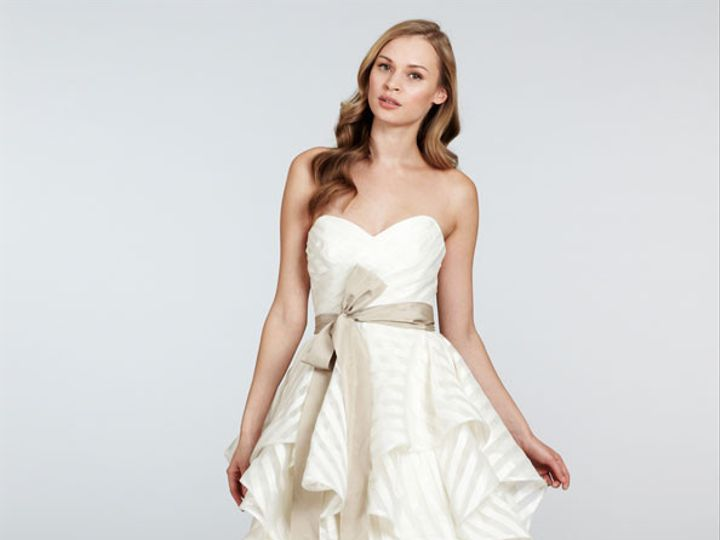 Tmx 1458855384528 Hayley Paige Bridal Organza Strapless Ball Gown Sw Plano wedding dress