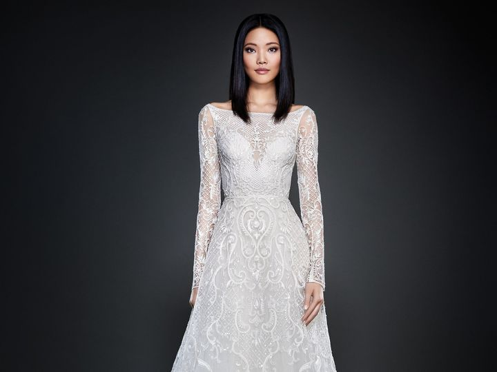 Tmx 1498629075176 Lazaro Bridal Spring 2017 Style 37094 Plano wedding dress