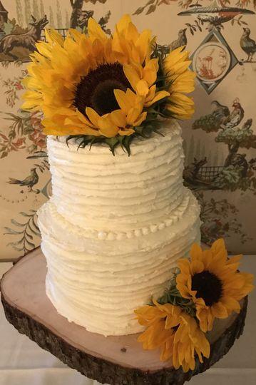 Fall buttercream wedding cake