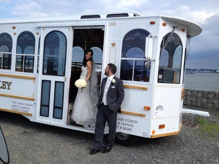 Tmx 1454359761478 White Trolley At Marina Del Ray Yonkers, NY wedding transportation