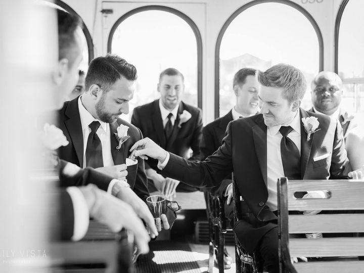Tmx Inside Trolley With Guys 51 106719 Yonkers, NY wedding transportation