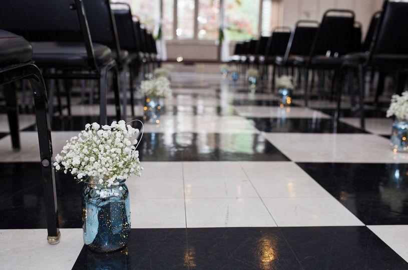 Aisle decor wedding