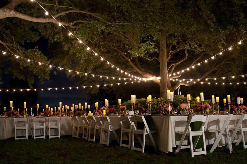 Evening reception lighting