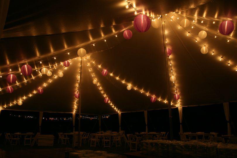 Tent lights and lanterns