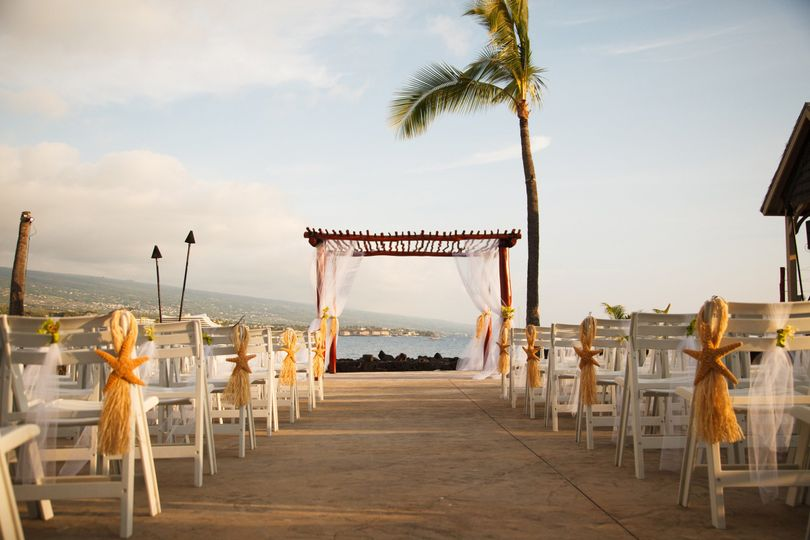 Outdoor wedding setup
