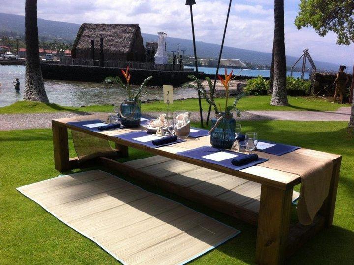 Tmx 1403811510831 Picnic Table Setting Kailua Kona, HI wedding venue