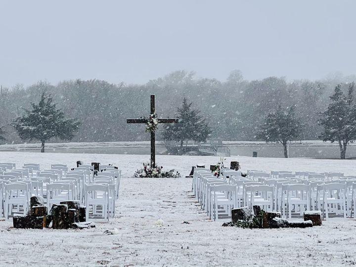 Tmx Texas Roadrunner Ranch Snow Day Ceremony 51 1897719 161832274314345 Ferris, TX wedding venue