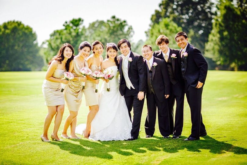 The bridal party at Southwind